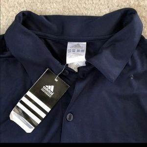 Adidas blue and white shirt